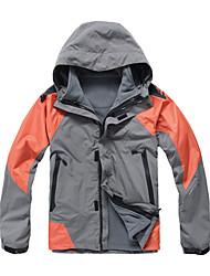 eamkevc - mens camada tripla jaqueta impermeável respirável cores contrastadas três-em-um