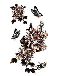 5 pièces de tatouage de fleur hydrofuge temporaire (17.5cm * 10cm)