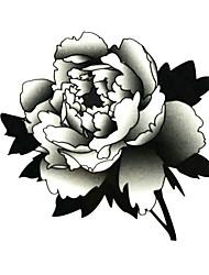5 piezas de flores tatuaje temporal a prueba de agua (6 m * 6 cm)