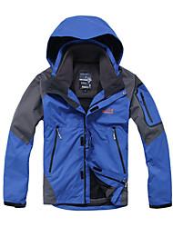 eamkevc - mens jaqueta impermeável respirável três-em-um com bolso braço