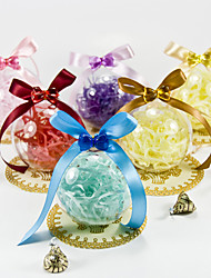 Clear Ball Favor Holder With Ribbons (Set of 12)