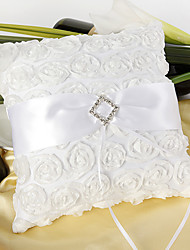 Rose Ring Pillow With White Sash