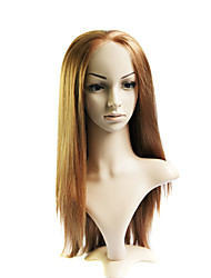 Lace Front Long Mixed Hair Tan Straight Hair Wig