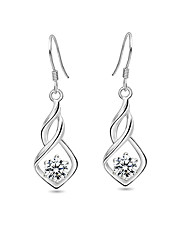 Colori argento sterling 925 / strass con orecchini platinato più disponibile