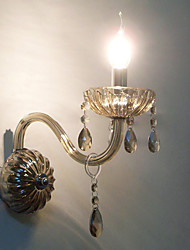 Crystal Wall Light with Candle Bulb