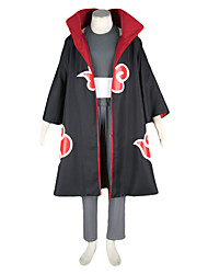 Inspired by Naruto Kakuzu Anime Cosplay Costumes Cosplay Suits Color Block Black Long SleeveCloak / Vest / Pants / Headpiece / Mask /