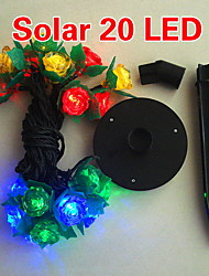 solare 2m 20-led colorati luce stringa fiore lampada di design per Natale