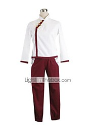 Inspired by Naruto Tenten Anime Cosplay Costumes Cosplay Suits Patchwork White / Red Long Sleeve Coat / Pants / Gloves