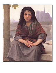 Hand-painted Oil Painting by William Adolphe Bouguereau with Stretched Frame