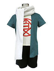 Inspired by Naruto Choji Akimichi Anime Cosplay Costumes Cosplay Suits Patchwork Green Short SleeveCoat / T-shirt / Shorts / Headpiece /