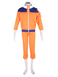 Inspired by Naruto Naruto Uzumaki Anime Cosplay Costumes Cosplay Suits Patchwork Orange Long Sleeve Coat / Pants