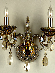 SEEVETAL - Lampe Murale Cristal - 2 slots à ampoule
