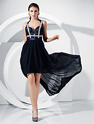 Sheath/ Column Straps Asymmetrical Chiffon Grammy/ Evening Dress inspired by Jennifer Hudson