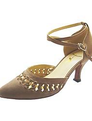 настраивать производительность танцевальной обуви бархат верхней современной обуви для женщин