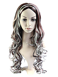 Capless Long 100% Imported Heat-resistant Fiber Curly Wig