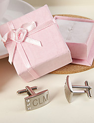 Gift Groomsman Personalized Cufflinks with Rhinestones