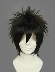 Cosplay Wigs Gintama Hijikata Toushirou Black Short Anime Cosplay Wigs 30 CM Heat Resistant Fiber Male