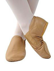 echt lederen bovenkant dansschoenen ballroom slip-on jazz schoenen voor vrouwen / mannen / kids meer kleuren