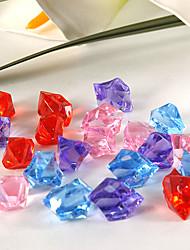 décoration de mariage pierres acrylique de couleur de pierres précieuses (168 pièces / sac)