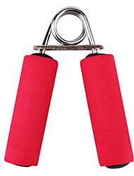 aparatos de gimnasia de color rojo manejar una esponja a mano la fuerza de agarre