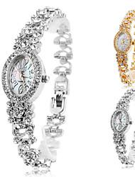 Frauen-Legierung Analog Quarz Armband Uhr elliptischen Fall (farbig sortiert)