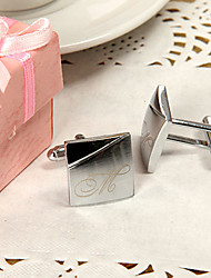 Gift Groomsman Personalized Simple Cufflinks