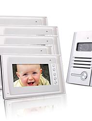 cinq couleur 7 pouces TFT LCD vidéo porte téléphone système d'interphone (1 caméra alliage)