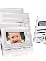 cinco de 7 polegadas TFT colorido LCD de vídeo porta telefone sistema de interfone (1 câmera liga)