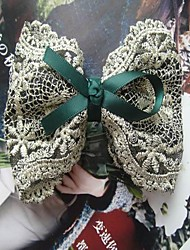 Complex Lace Bow Hair Jaw Clip