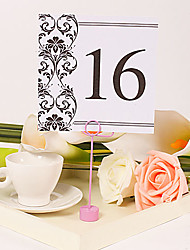 Place Cards and Holders Square Table Number Card – Vintage Vines (Set of 10)