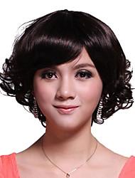 sin tapa corta de grado superior de calidad peluca sintética del pelo