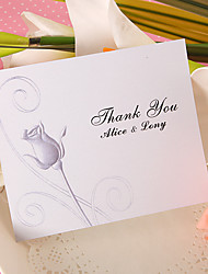 Thank You Card - Rose (Set of 50)