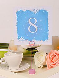 Square Table Number Card – Snow (Set of 10)