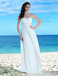 Lanting Sheath/Column Plus Sizes Wedding Dress - Ivory Floor-length Sweetheart Chiffon