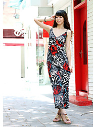 Polyester Maxi Dress With Spaghetti Straps (More Colors)