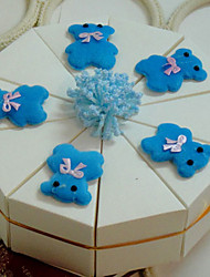 Cute Bear White Cake Favor Box (Set of 10)