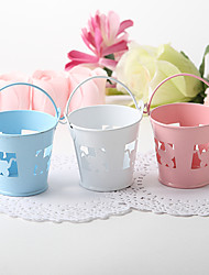 Favor Pail With Baby Carriage Cutout – Set of 12 (More Colors)