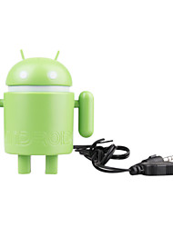 USB-робот андроид динамиков ноутбука Tablet PC в середине (зеленый)