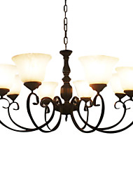 Iron Chandelier with 8 Lights in Antique Style