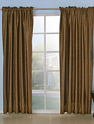 TWOPAGES® Two Panels  Meet Embossed Blackout Thermal Curtains Drapes