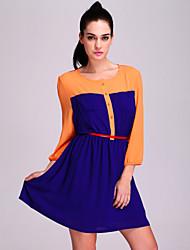 TS Color Block Pockets Dress