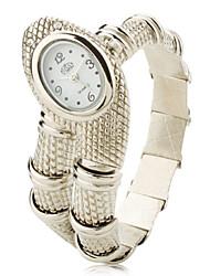 Women's Silver Snake Style Alloy Quartz Analog Bracelet Watch Cool Watches Unique Watches Strap Watch