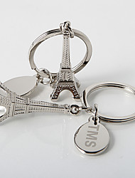 Personalized La Tour Eiffel Key Ring (Set of 4)