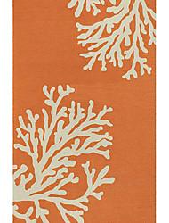 acrílico alfombras peludas zona con estampado de flores artístico 3 '* 5'