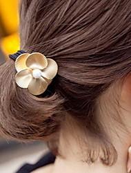 básica liga empate cabelo da flor