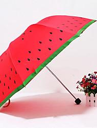 Cute Cartoon Fruit Print Long-Handled Umbrella(Product May Vary)