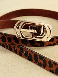 Horse Hair Leopard Belt