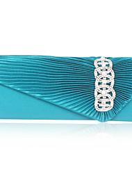 Satin With Crystal/Rhinestone Evening Handbag  (More Colors)