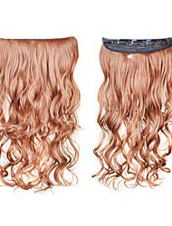 le clip dans la synthèse des extensions de cheveux bouclés avec 5 clips - 6 couleurs disponibles