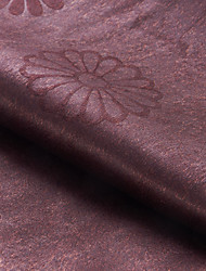 """Neoclassical Brown Solid Polyester Embossed Fabric (Fabric Weight-Medium) - Width=110"""" (280 cm)"""